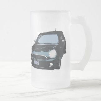 Cute Green Car Glass Mug