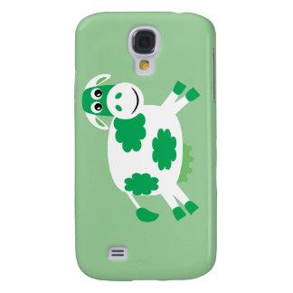 Cute Green Cartoon Cow Samsung Galaxy S4 Case