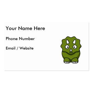 Cute Green Cartoon Dinosaur Business Card