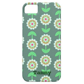 Cute Green Cartoon Flowers iPhone 5 Cover