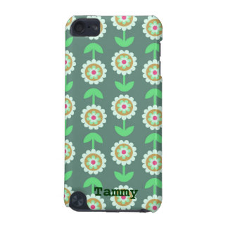 Cute Green Cartoon Flowers iPod Touch 5g Cover