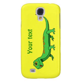 Cute Green Cartoon Lizard Kids Reptile Galaxy S4 Case