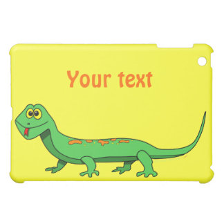 Cute Green Cartoon Lizard Kids Reptile iPad Mini Covers