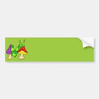 Cute Green Caterpillar Bumper Sticker