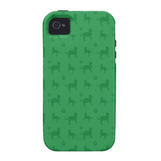 Cute green cats and paws pattern vibe iPhone 4 case