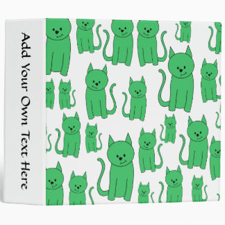 Cute Green Cats. Binder