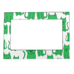 Cute Green Cats. Magnetic Picture Frame