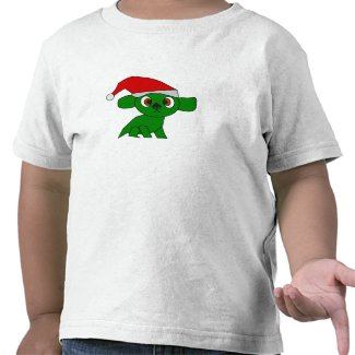 Cute green Christmas Dragon Shirt