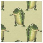 Cute Green Crocodiles Fabric