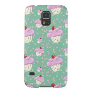 Cute Green Cupcake Pattern Galaxy S5 Cover