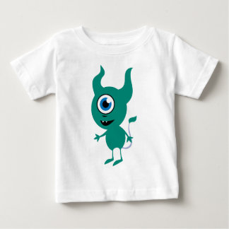 Cute Green Cyclops Baby T-Shirt