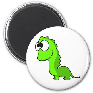 Cute green dinosaur animation illustration magnet