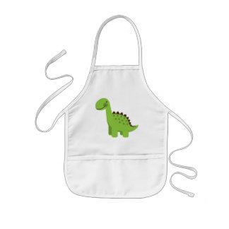 Cute Green Dinosaur Aprons