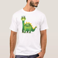 Cute green dinosaur cartoon T-Shirt