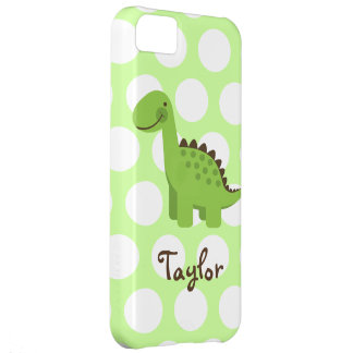 Cute Green Dinosaur Cover For iPhone 5C