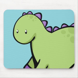 Cute Green Dinosaur Mouse Pad