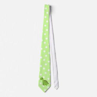 Cute Green Dinosaur Neck Tie