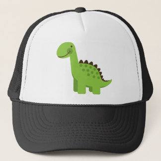 Cute Green Dinosaur Trucker Hat
