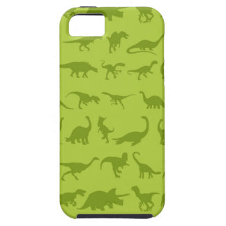 Cute Green Dinosaurs Patterns for Boys iPhone 5 Cover