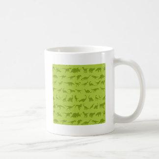 Cute Green Dinosaurs Patterns for Boys Coffee Mug