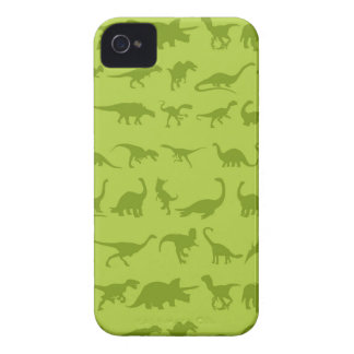 Cute Green Dinosaurs Patterns for Boys iPhone 4 Case
