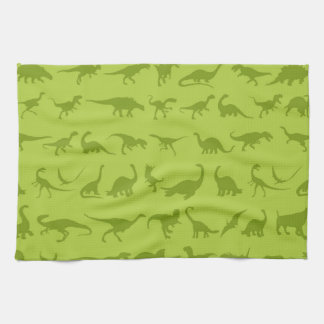 Cute Green Dinosaurs Patterns for Boys Kitchen Towels