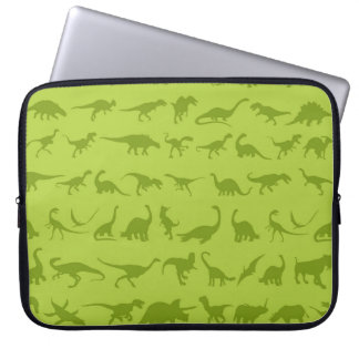 Cute Green Dinosaurs Patterns for Boys Laptop Sleeve