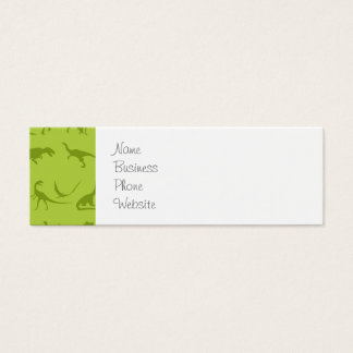 Cute Green Dinosaurs Patterns for Boys Mini Business Card