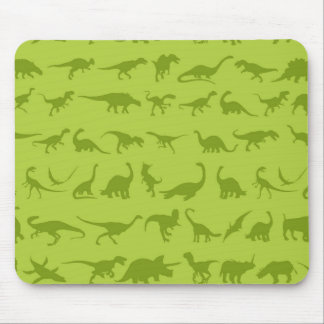 Cute Green Dinosaurs Patterns for Boys Mousepad