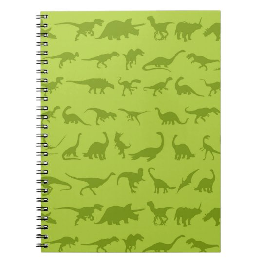Cute Green Dinosaurs Patterns for Boys Notebook