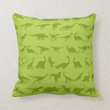 Cute Green Dinosaurs Patterns for Boys Pillow