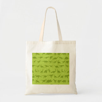 Cute Green Dinosaurs Patterns for Boys Tote Bag