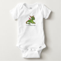 Cute Green Dragon Baby Onesie
