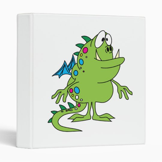 cute green dragon monster creature binder