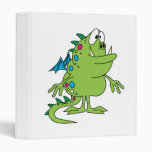 cute green dragon monster creature binders