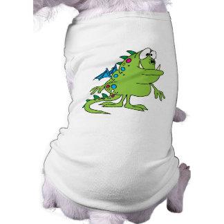 cute green dragon monster creature doggie tshirt