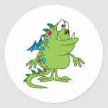 cute green dragon monster creature stickers