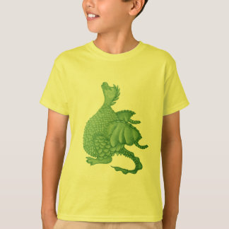 cute green dragon mythical fantasy creature art T-Shirt