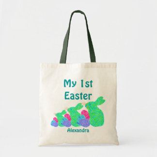 Cute Green Easter Bunny My First Easter Bag Fun