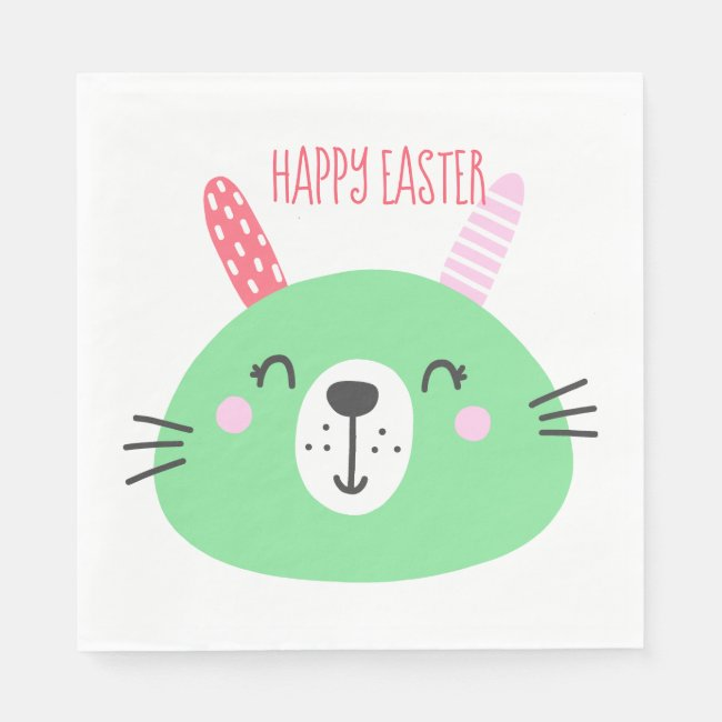 Cute Green Easter Bunny