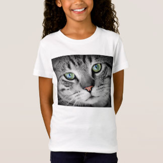 Cute green eyed cat portrait T-Shirt