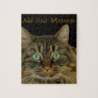 Cute Green Eyed Cat Puzzle to Purrrsonalize