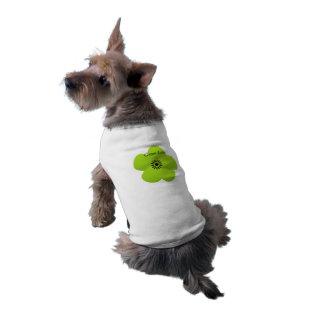 Cute Green Flower Gift Dog Tee