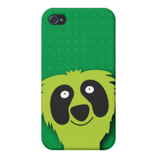 Cute green fluffy Monster i Case For iPhone 4