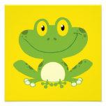 Cute Green Frog Art Photo