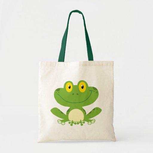 Cute Green Frog Tote Bag