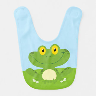 Cute Green Frog Bib