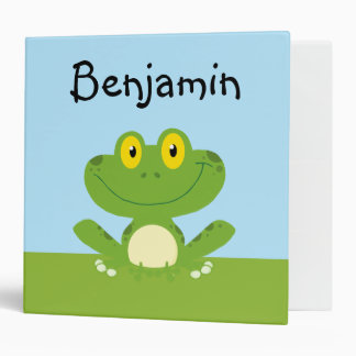 Cute Green Frog Binder