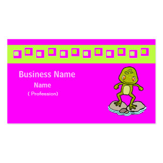 Cute green frog Double-Sided standard business cards (Pack of 100)