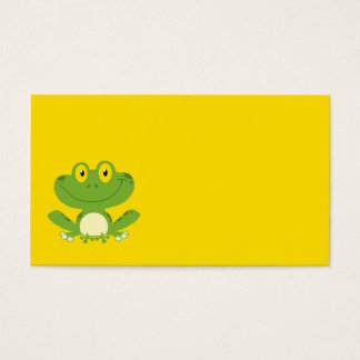 Cute Green Frog Business Card